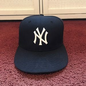 NY Yankees Derek Jeter Patch Fitted Hat  7 1/8
